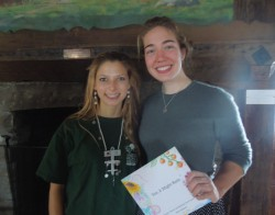 Talia Calnek-Sugin '15 (left) and Piper Sallquist '15 (right)