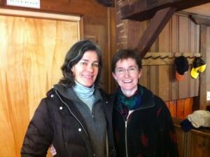 Sarah Gardner (left) and Lisa Fernandez (right)