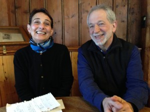 Karen Weinberg (right) and CES Chair Professor Ralph Bradburd (left)